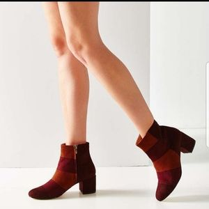 Urban Outfitters Vegan Suede Colorblock Boots
